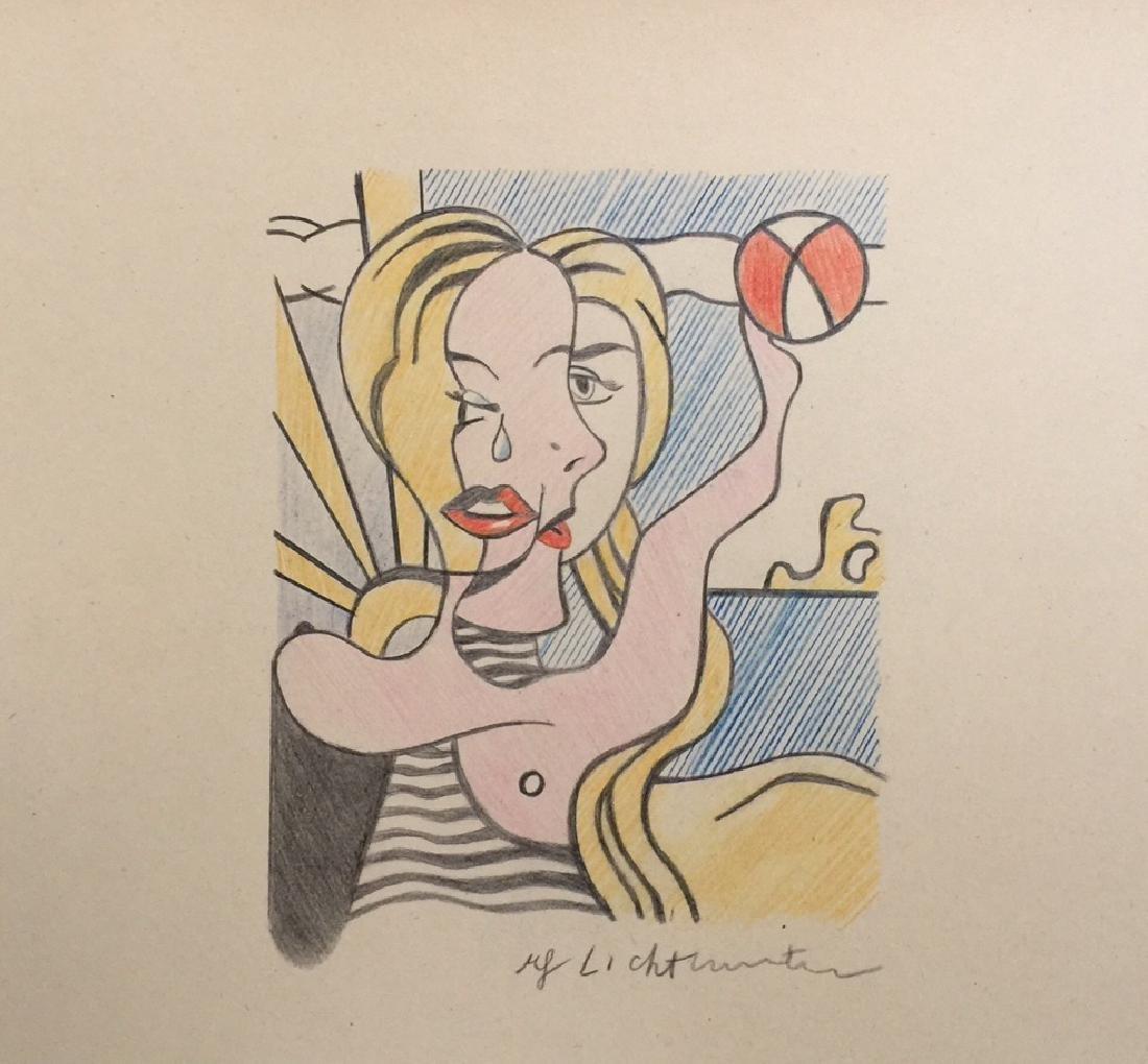 Crayon on paper of Roy Lichtenstein style