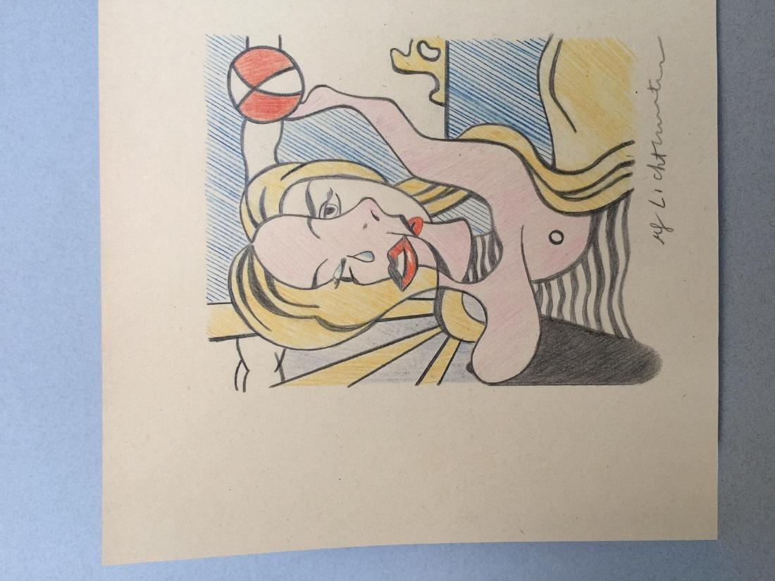 Crayon on paper of Roy Lichtenstein style - 4