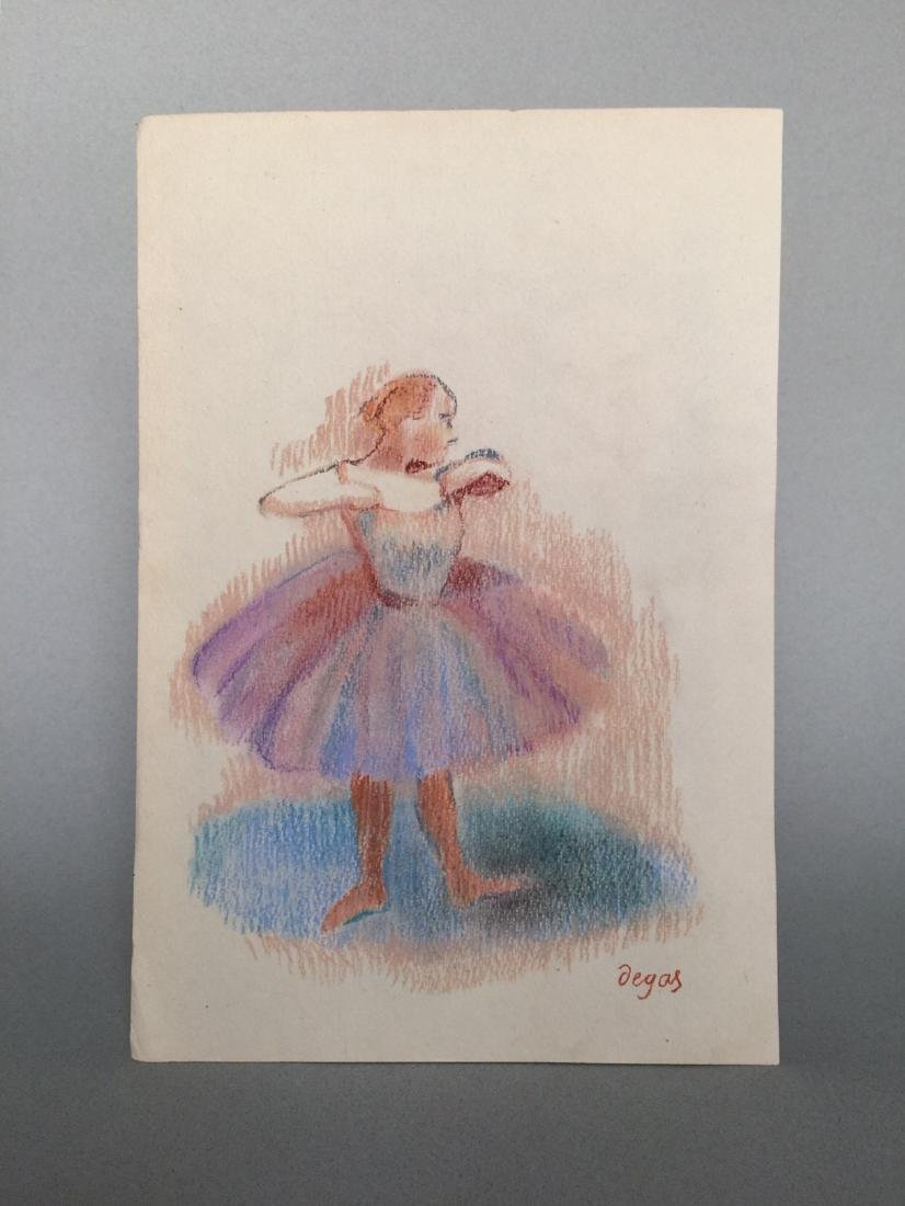 Edgar Degas pastel on paper style - 2