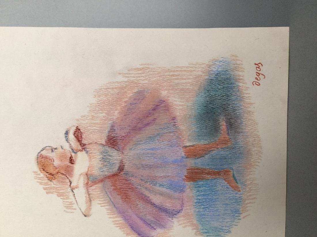 Edgar Degas pastel on paper style - 4