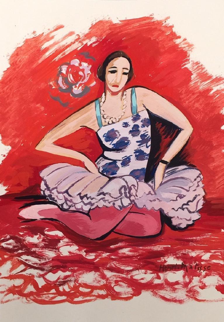 Henri Matisse tempera on paper style