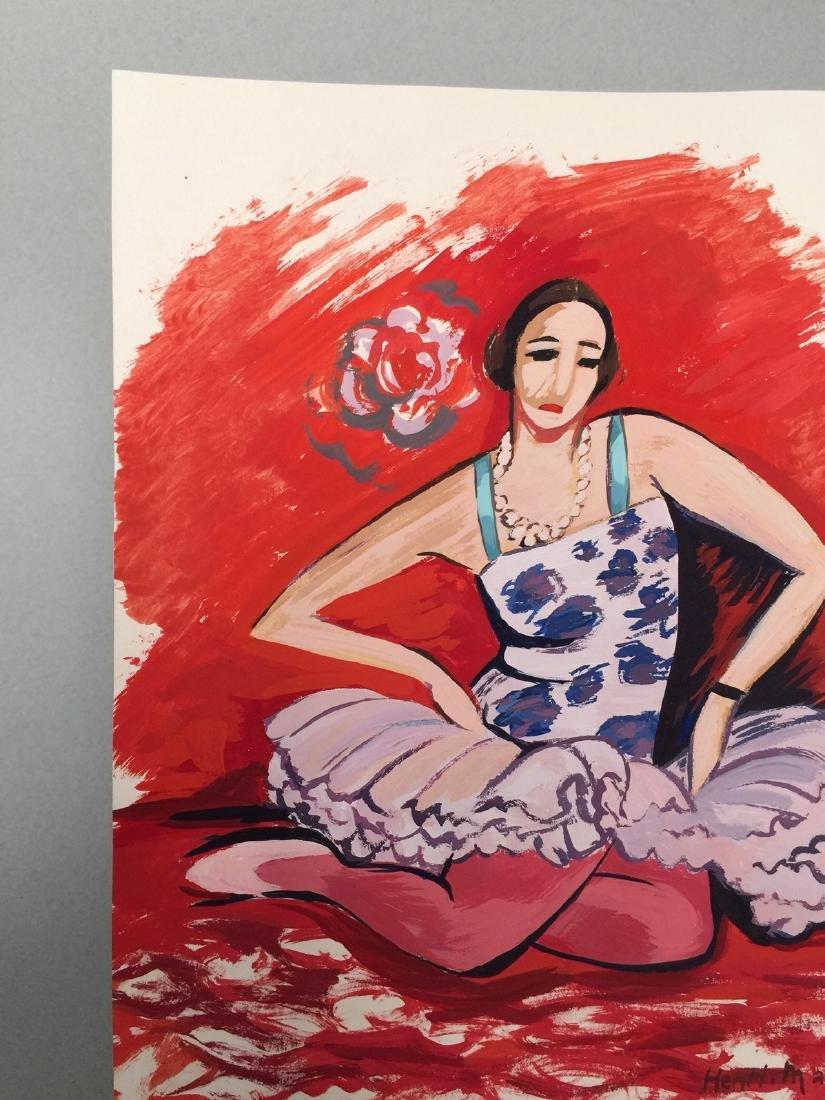 Henri Matisse tempera on paper style - 4