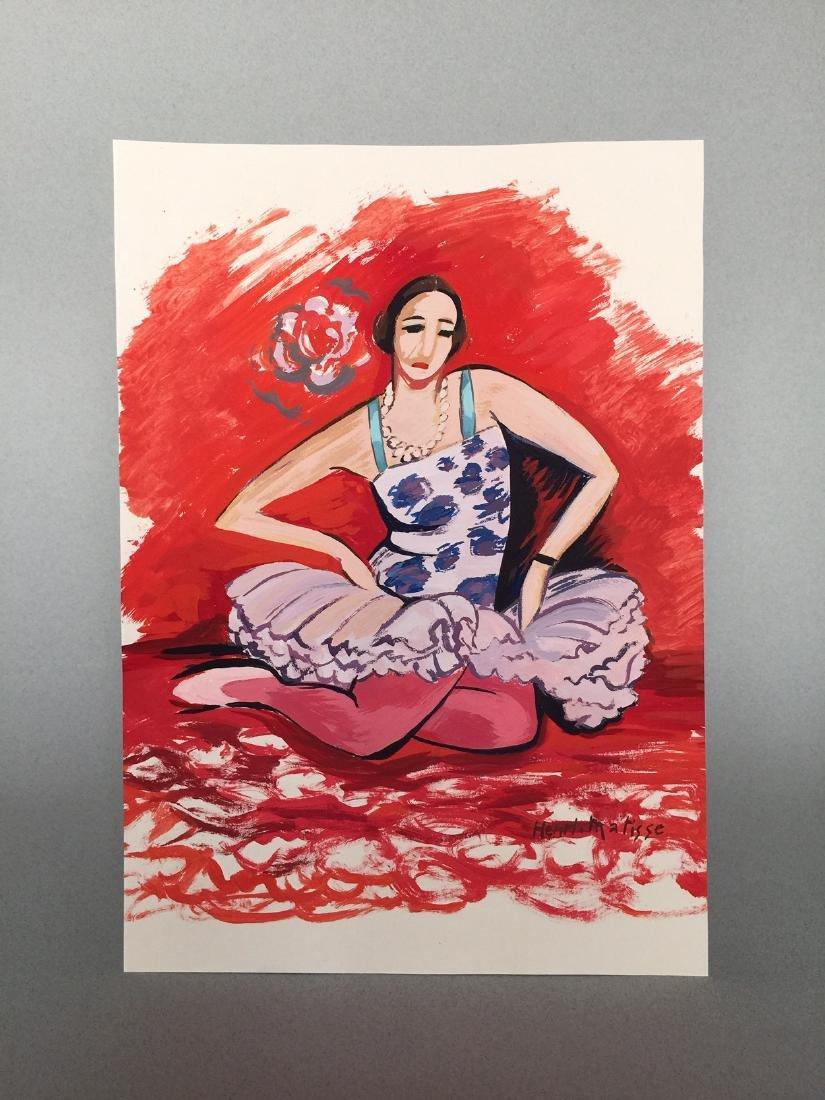Henri Matisse tempera on paper style - 5