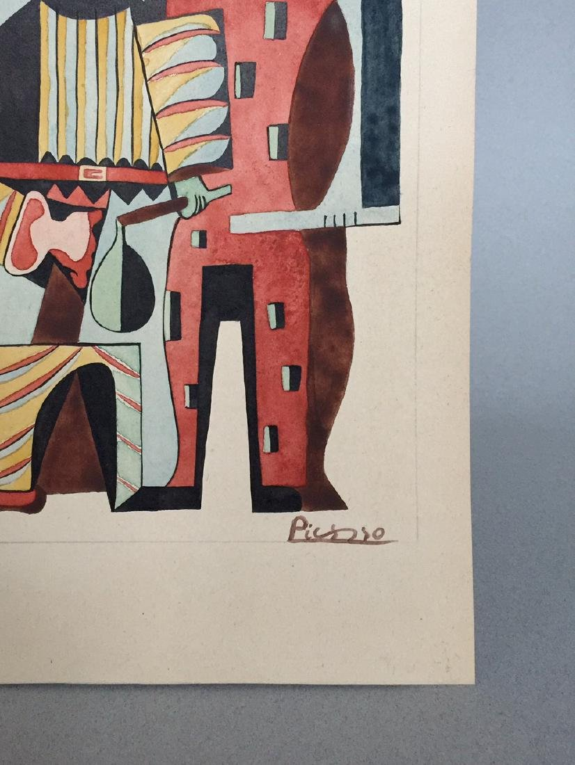 Pablo Picasso watercolor on paper style - 4