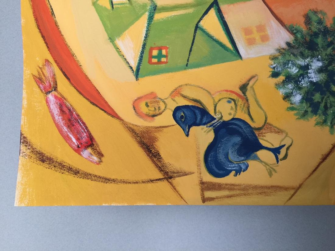 Marc Chagall gouache on paper style - 3