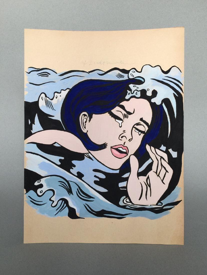 Gouache on paper Roy Lichtenstein - 2