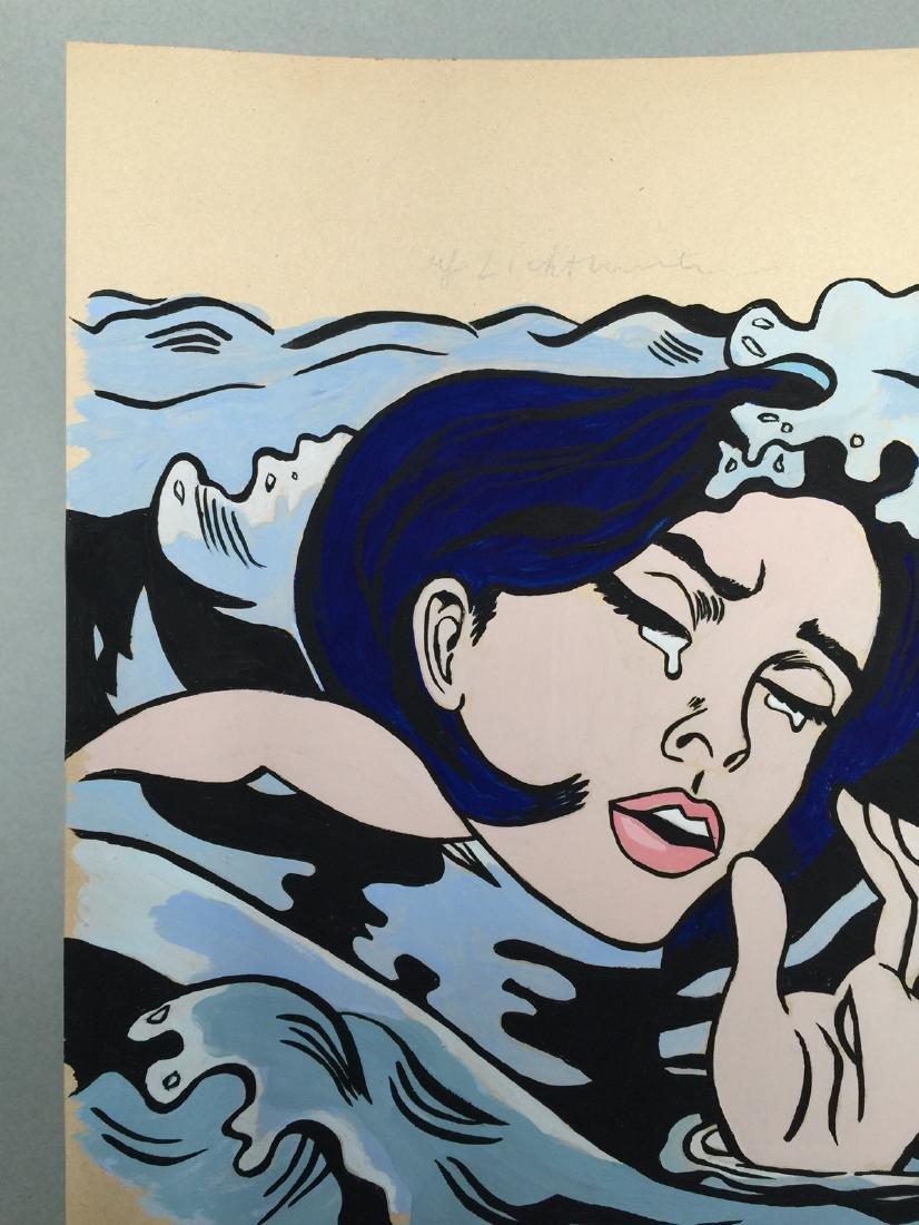 Gouache on paper Roy Lichtenstein - 4