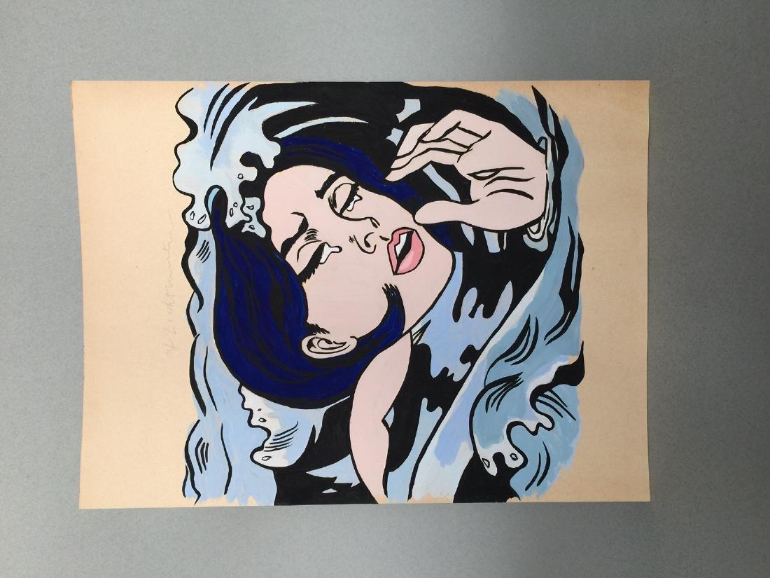 Gouache on paper Roy Lichtenstein - 6