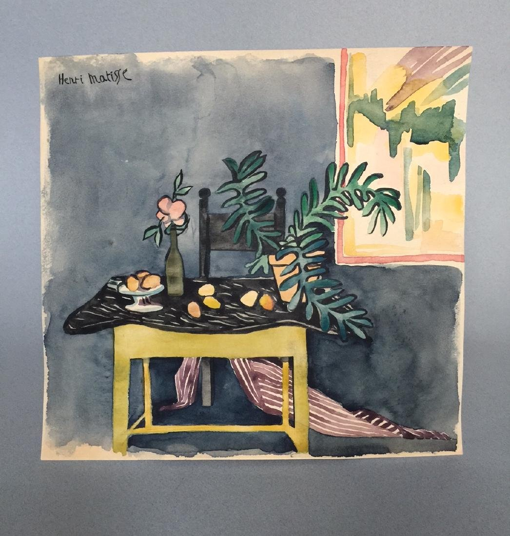 Henri Matisse watercolor on paper style - 2