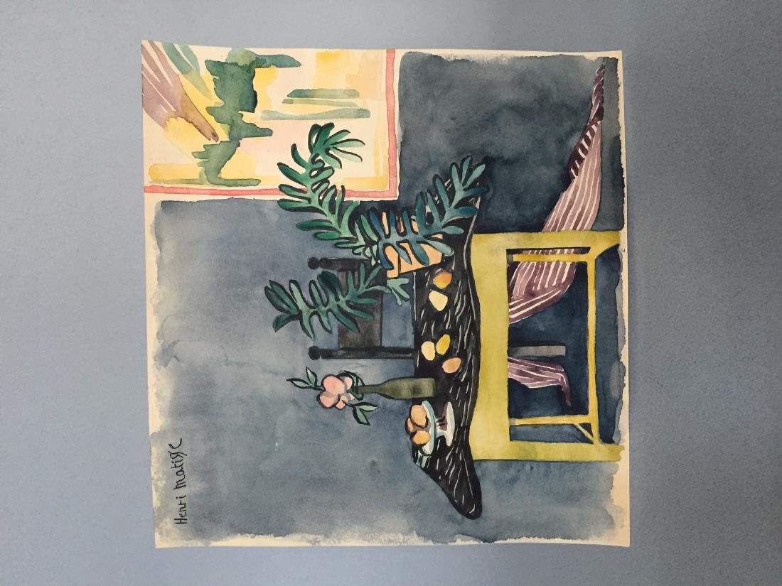 Henri Matisse watercolor on paper style - 5