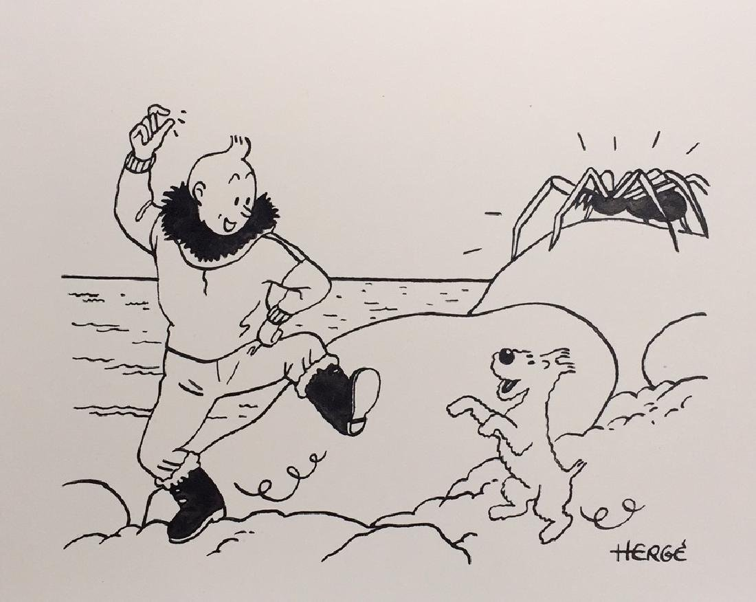 Ink drawing Herge style