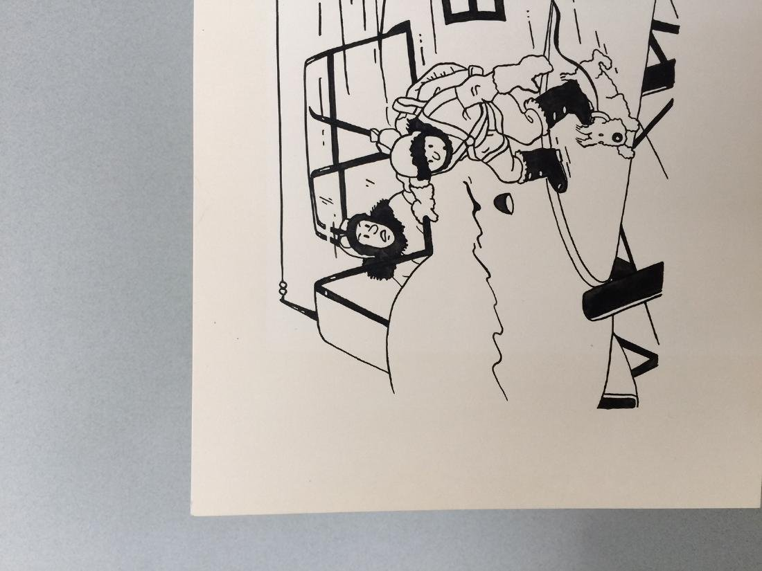 Ink drawing Herge style - 3