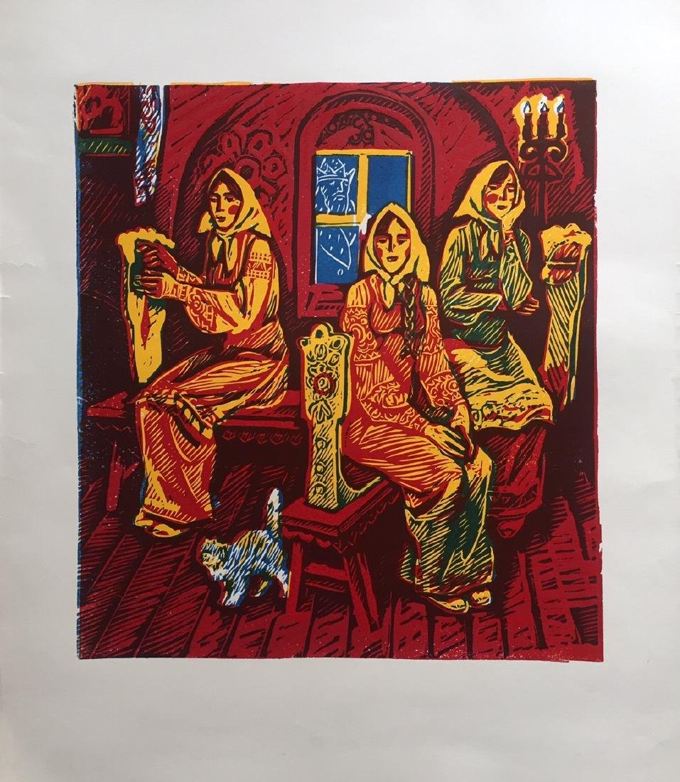 Russian lithograph on paper, fairytale