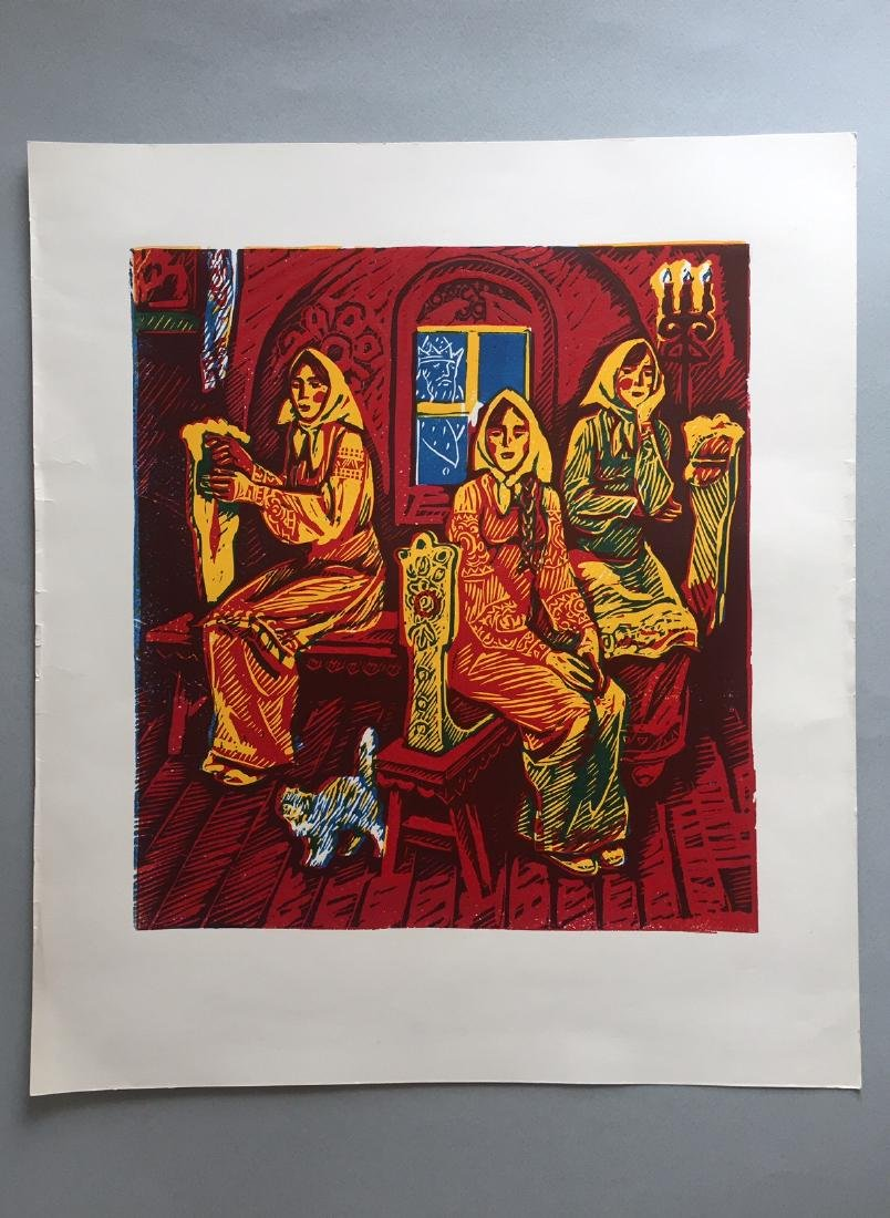 Russian lithograph on paper, fairytale - 2