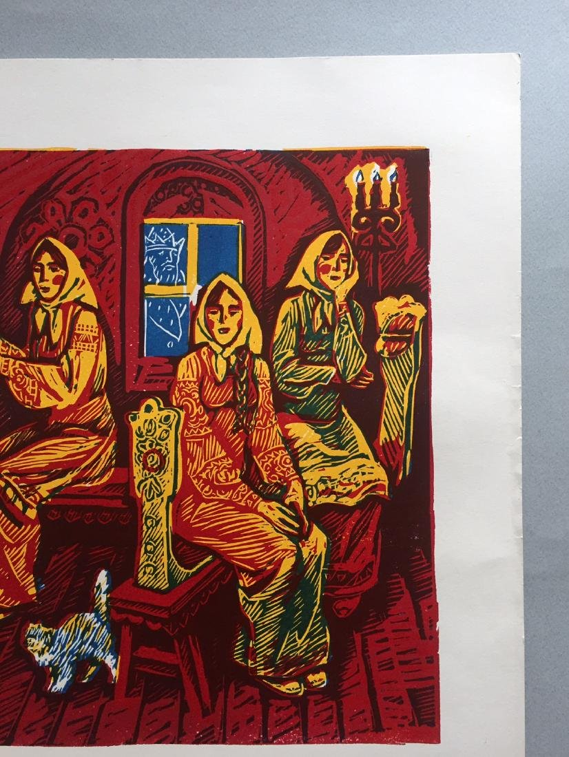 Russian lithograph on paper, fairytale - 3