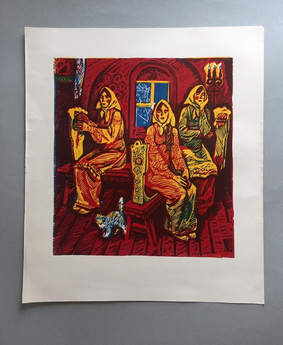 Russian lithograph on paper, fairytale - 4