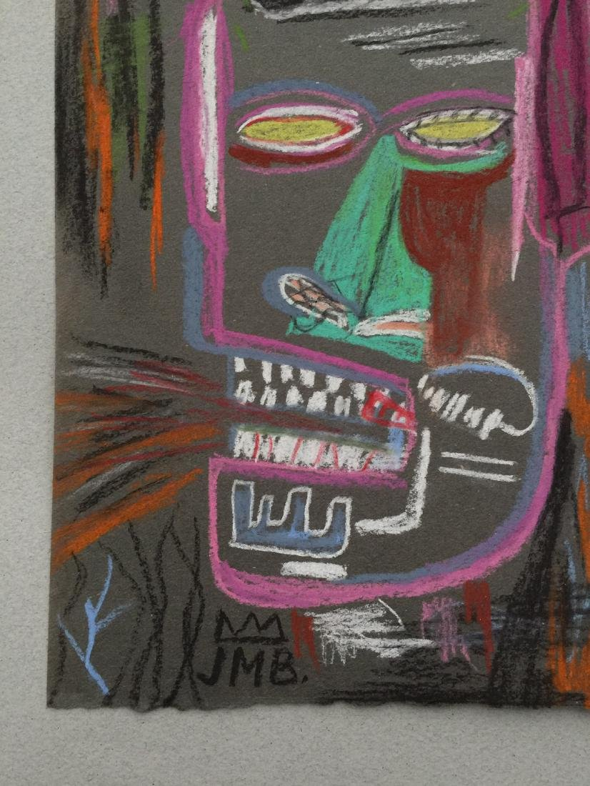 Mixed media on paper Jean-Michel Basquiat style - 4