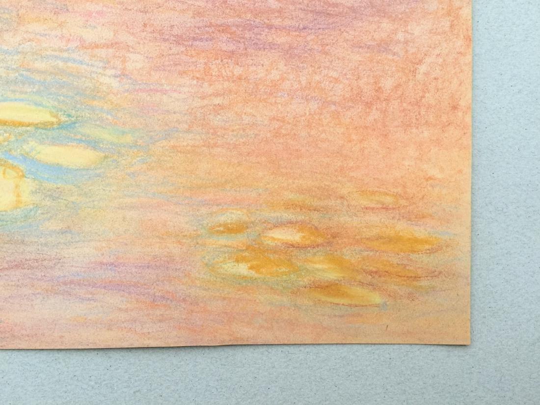 Claude Monet pastel on paper style - 3