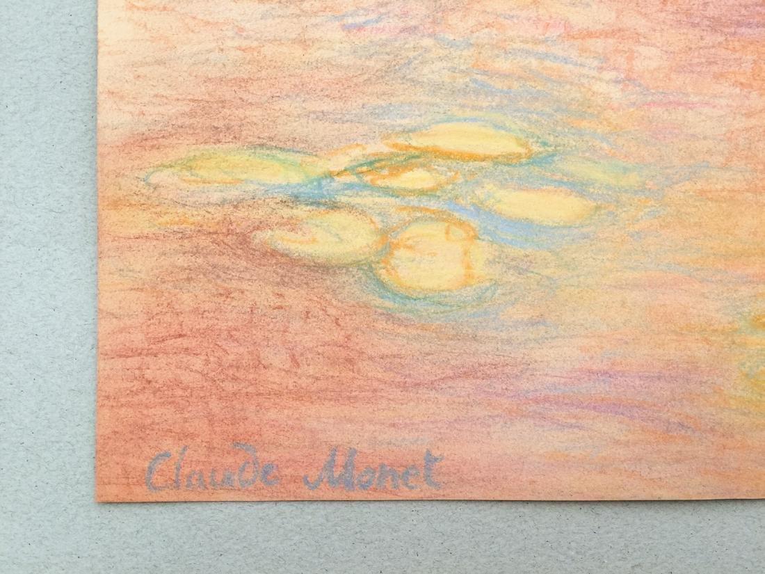 Claude Monet pastel on paper style - 5