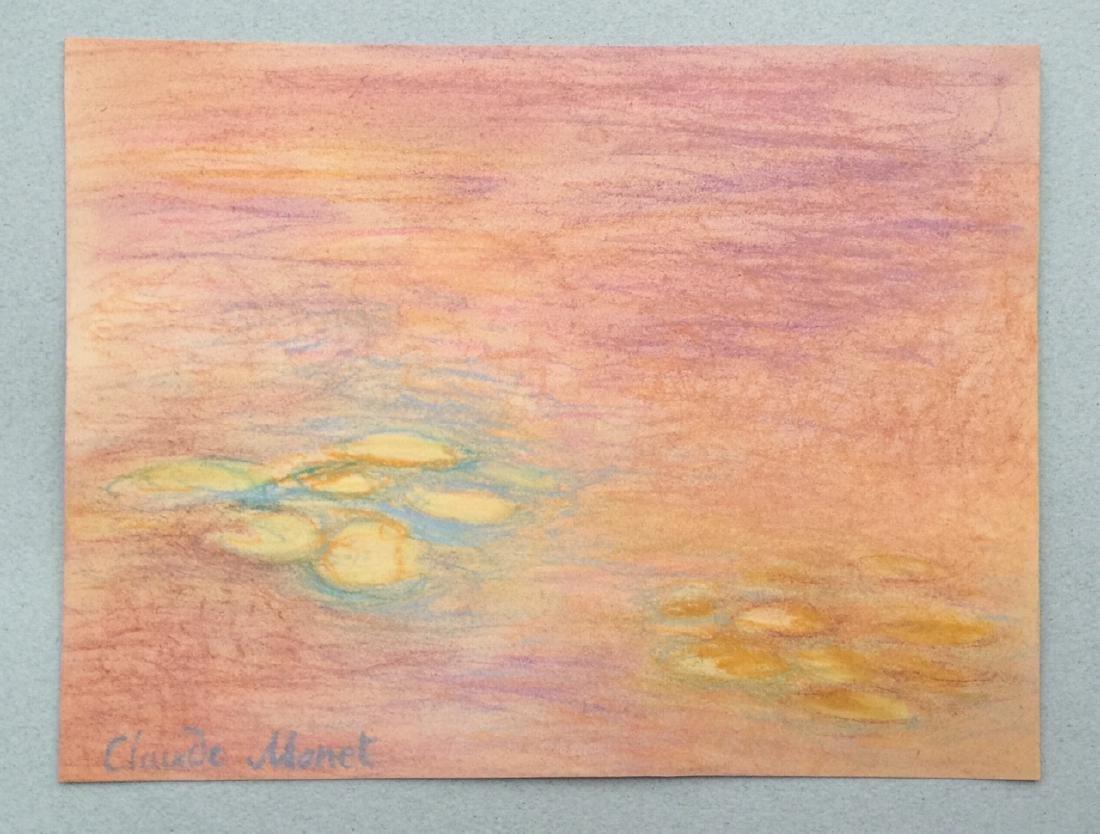 Claude Monet pastel on paper style - 6