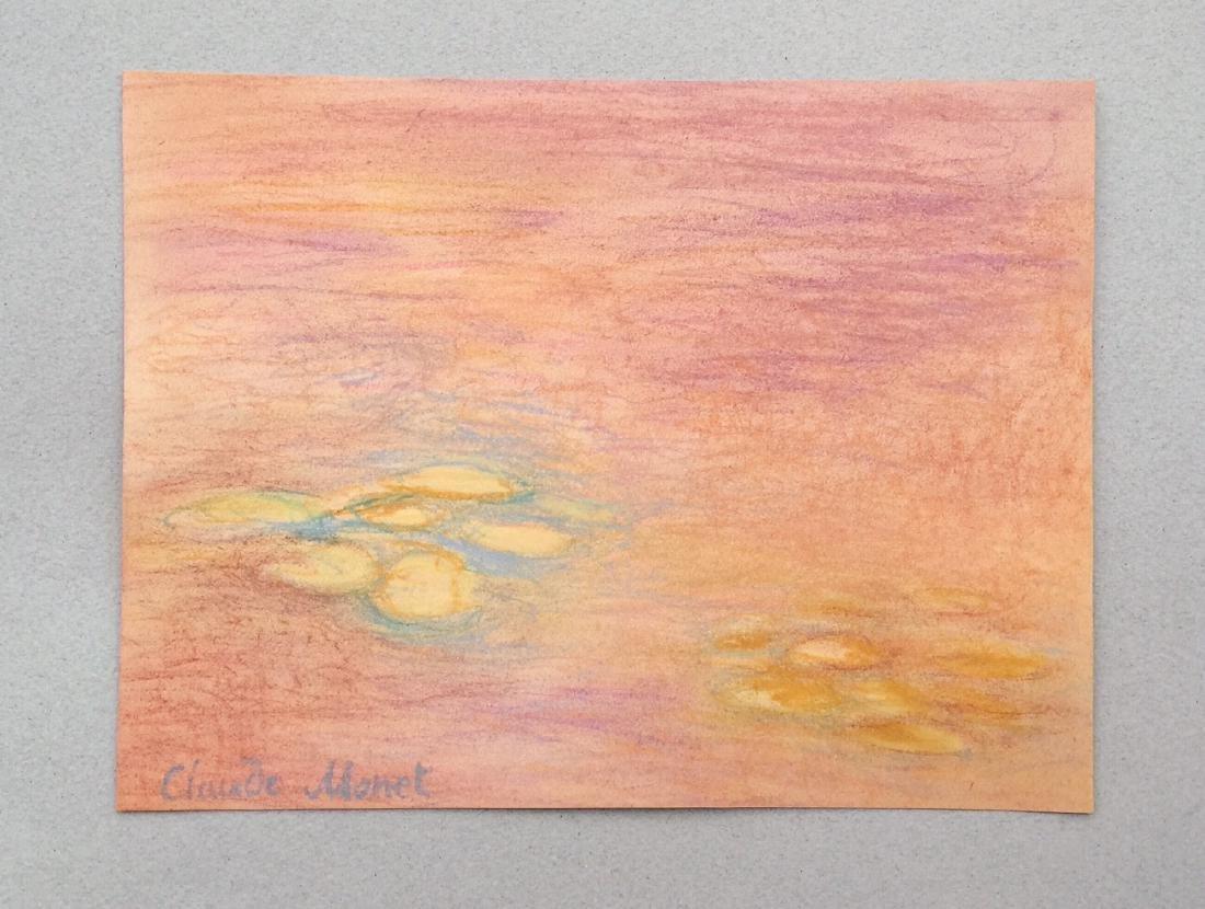 Claude Monet pastel on paper style - 7