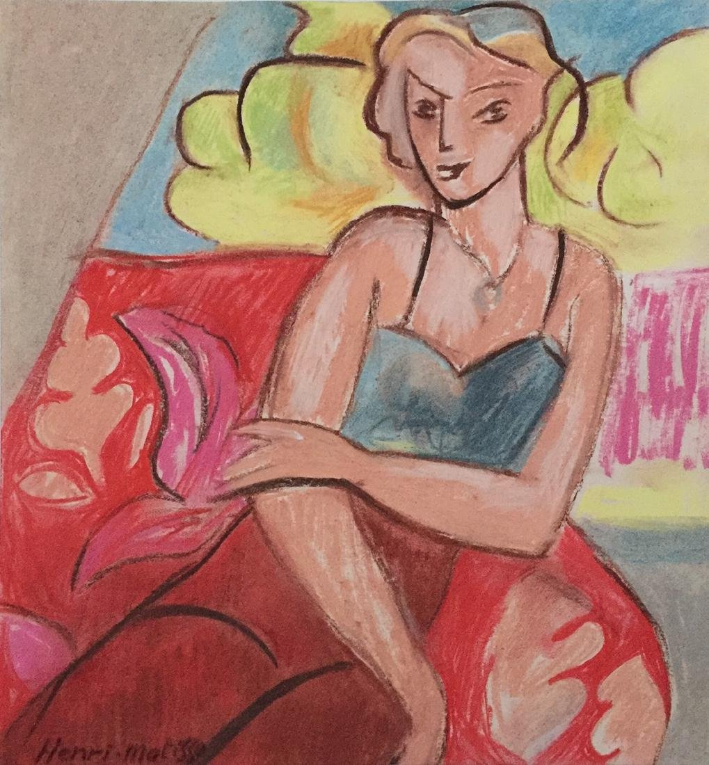Henri Matisse mixed media on paper style