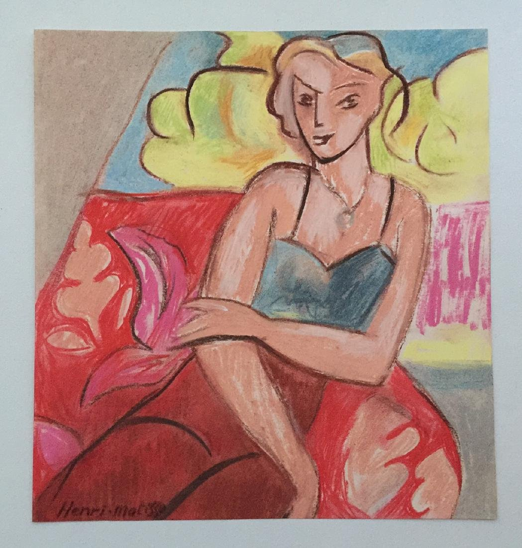 Henri Matisse mixed media on paper style - 2