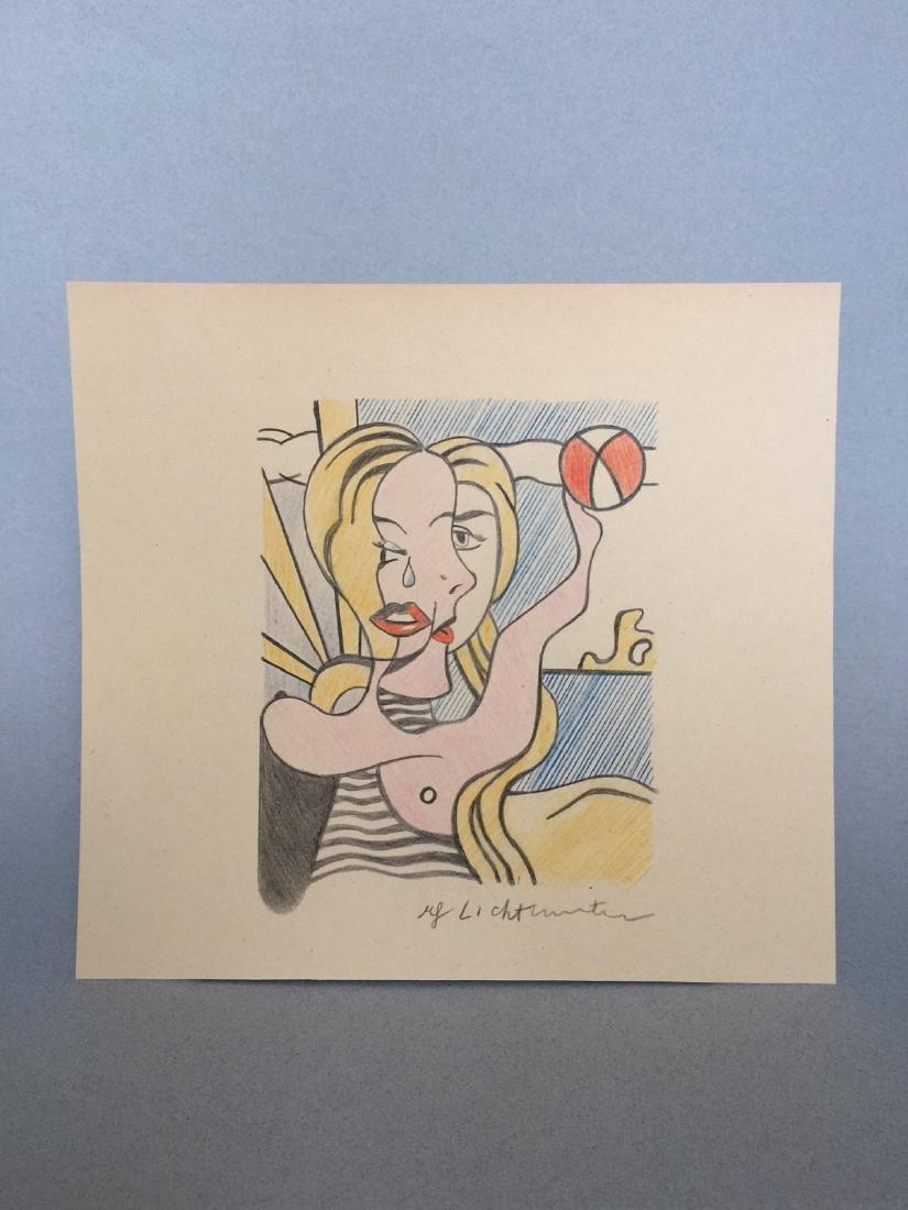 Crayon on paper Roy Lichtenstein style - 2