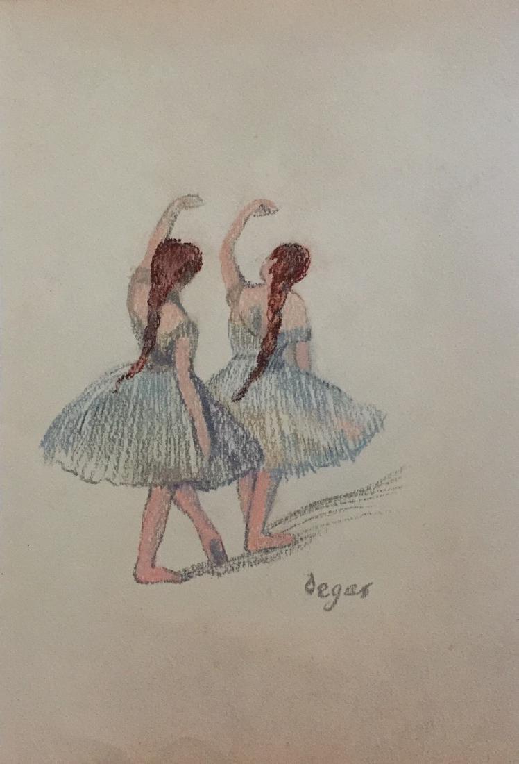Edgar Degas pastel on paper style