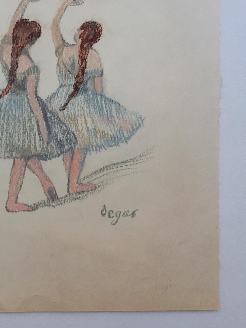 Edgar Degas pastel on paper style - 4