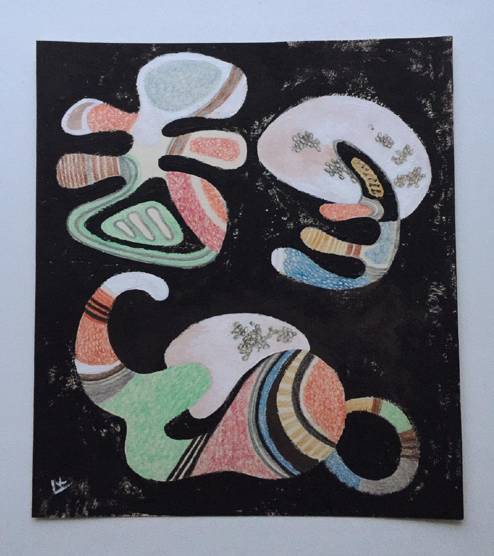 Wassily Kandinsky tempera, crayons on paper - 2