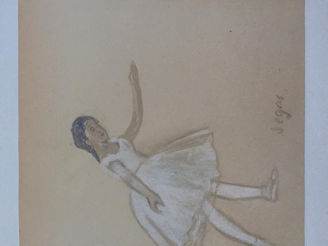 Edgar Degas pastel on paper style - 5