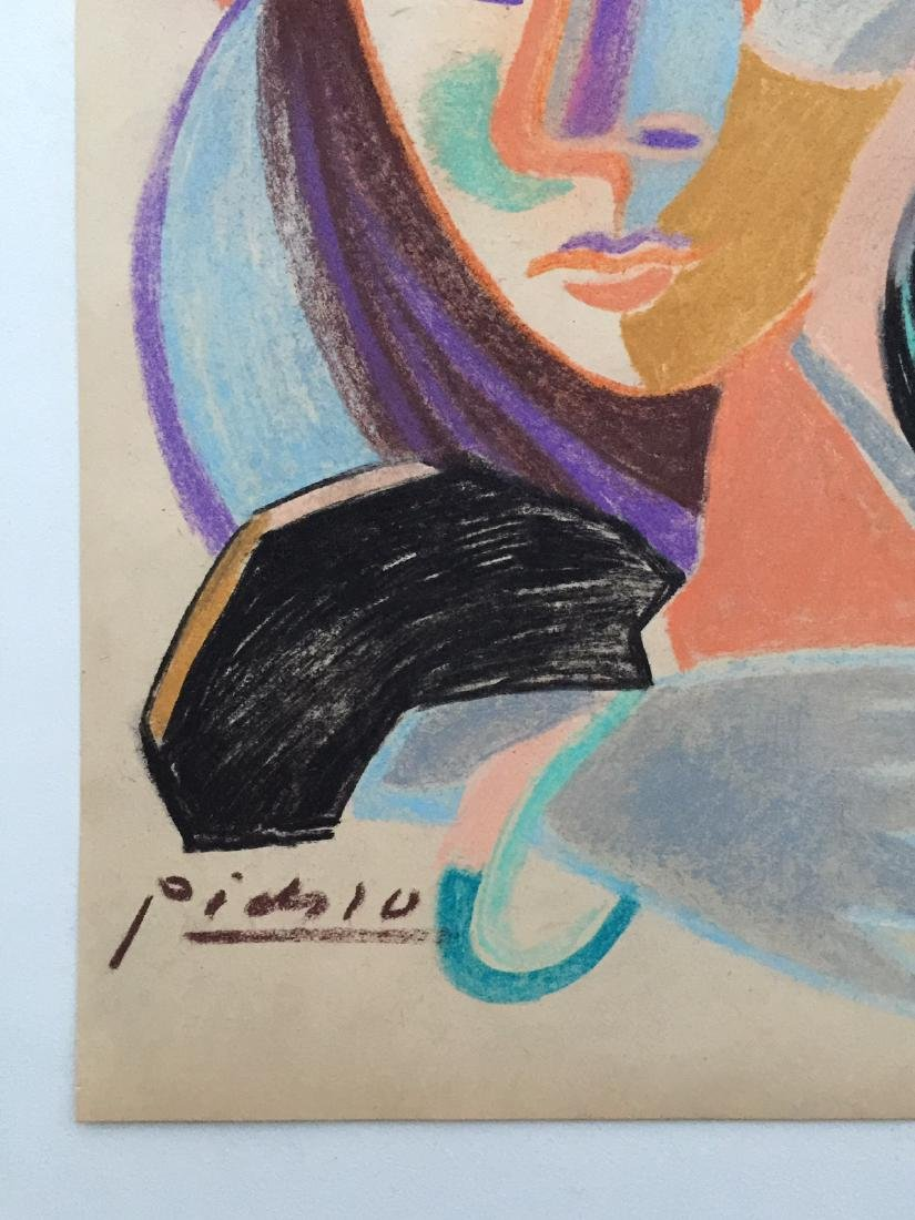 Mixed media on paper Pablo Picasso style - 3