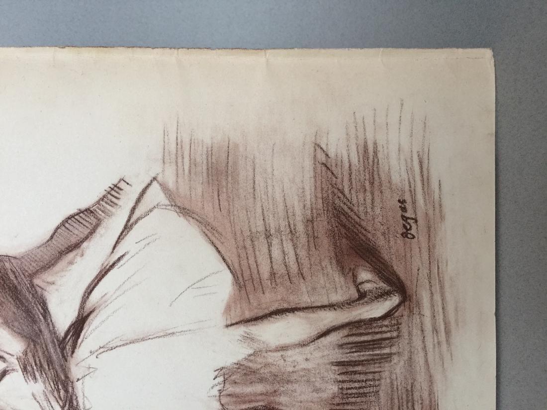 Edgar Degas pastel on paper style - 3