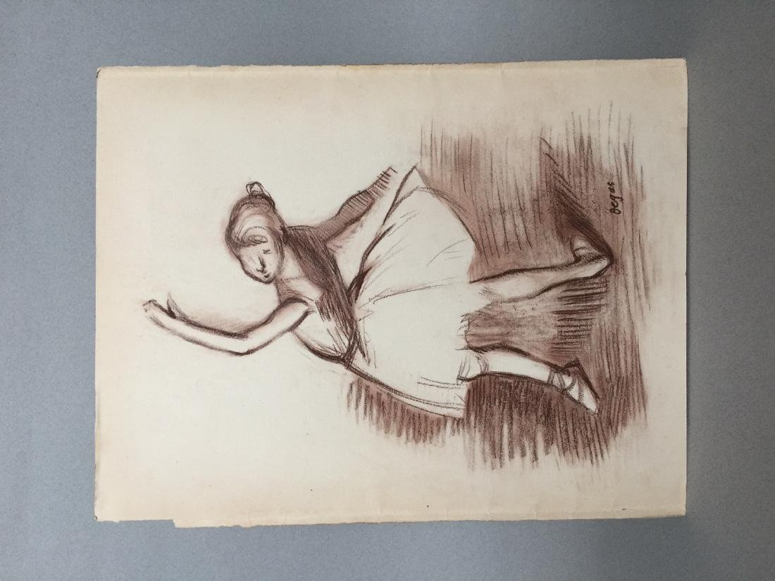 Edgar Degas pastel on paper style - 6