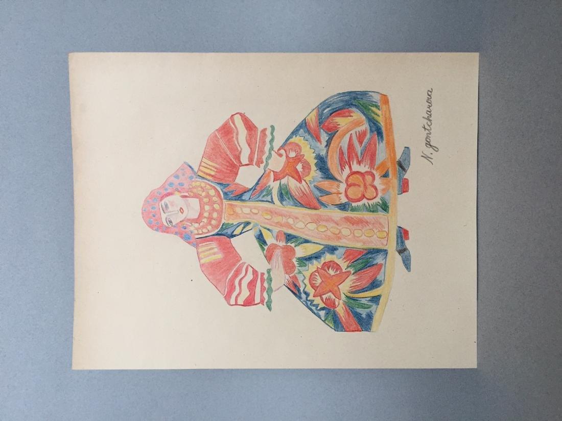 Crayon on paper Natalia Goncharova - 2