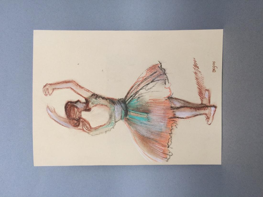 Edgar Degas pastel on paper style - 2