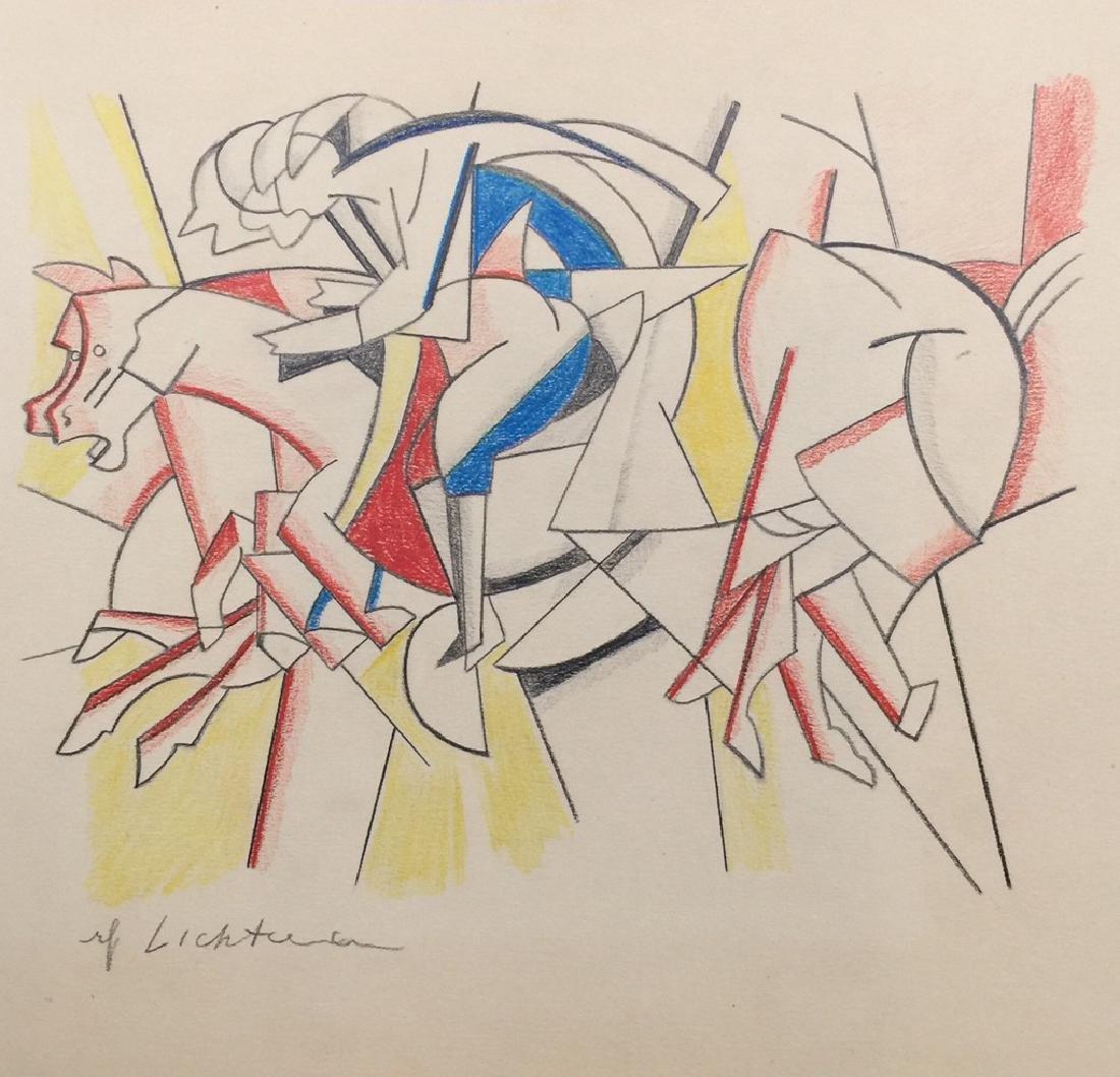 Crayon on paper Roy Lichtenstein