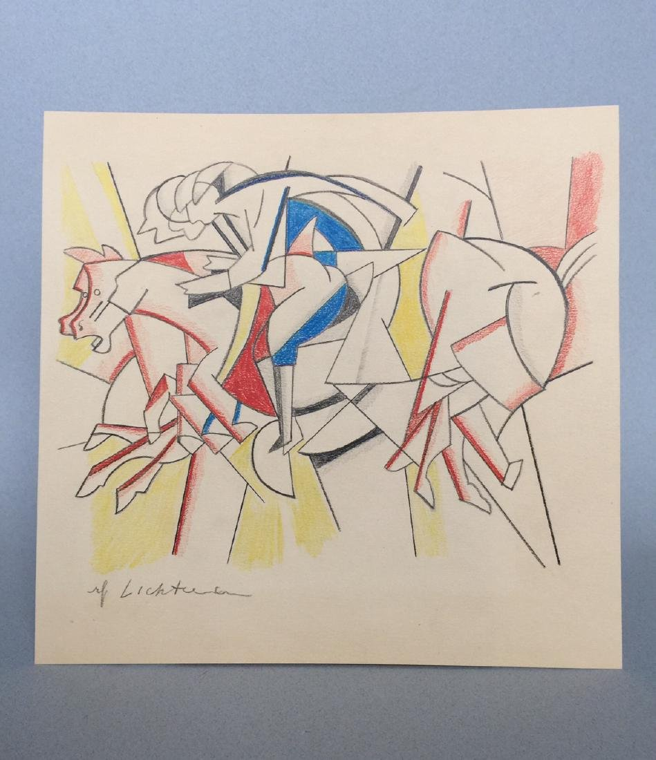 Crayon on paper Roy Lichtenstein - 2