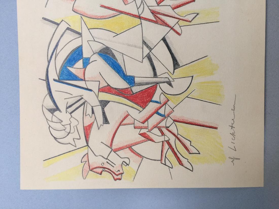 Crayon on paper Roy Lichtenstein - 3