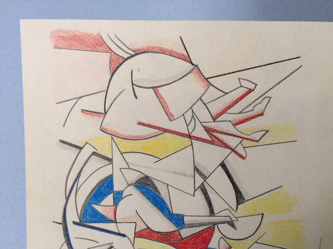 Crayon on paper Roy Lichtenstein - 4