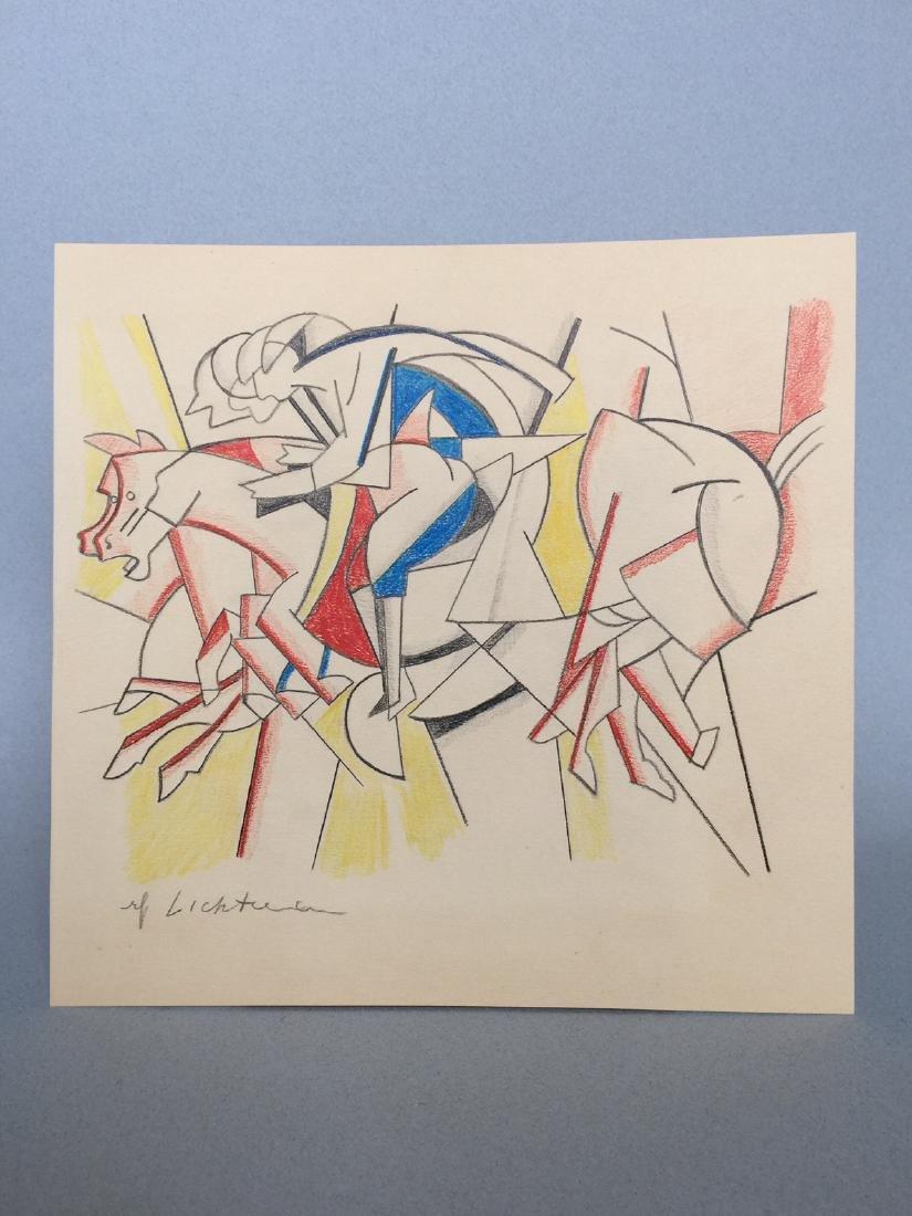 Crayon on paper Roy Lichtenstein - 5