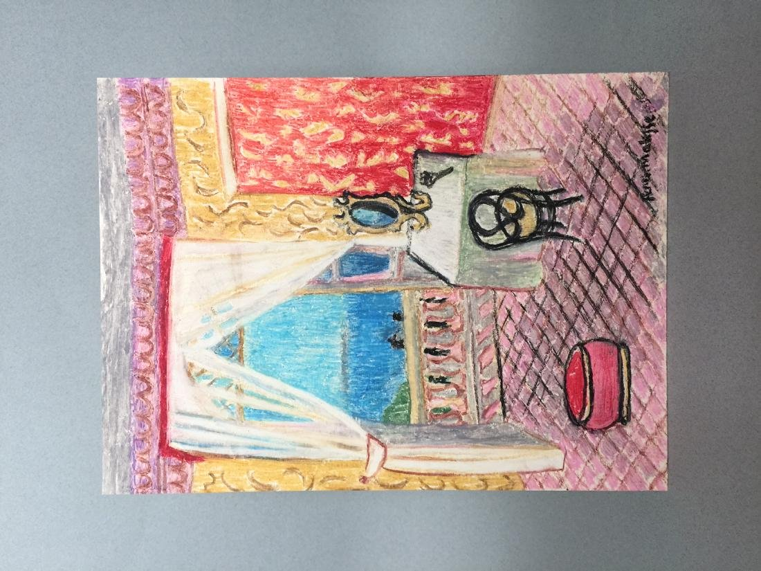 Henri Matisse wax crayon on paper style - 2