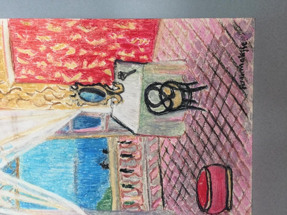 Henri Matisse wax crayon on paper style - 3