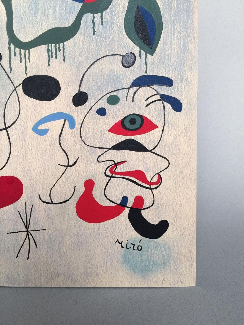 Joan Miro pastel, tempera on paper - 4