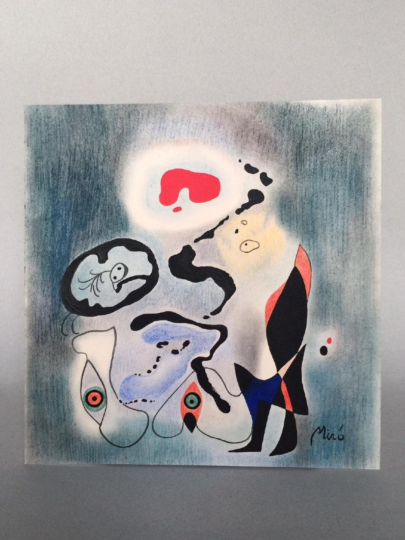 Joan Miro mixed media on paper - 2