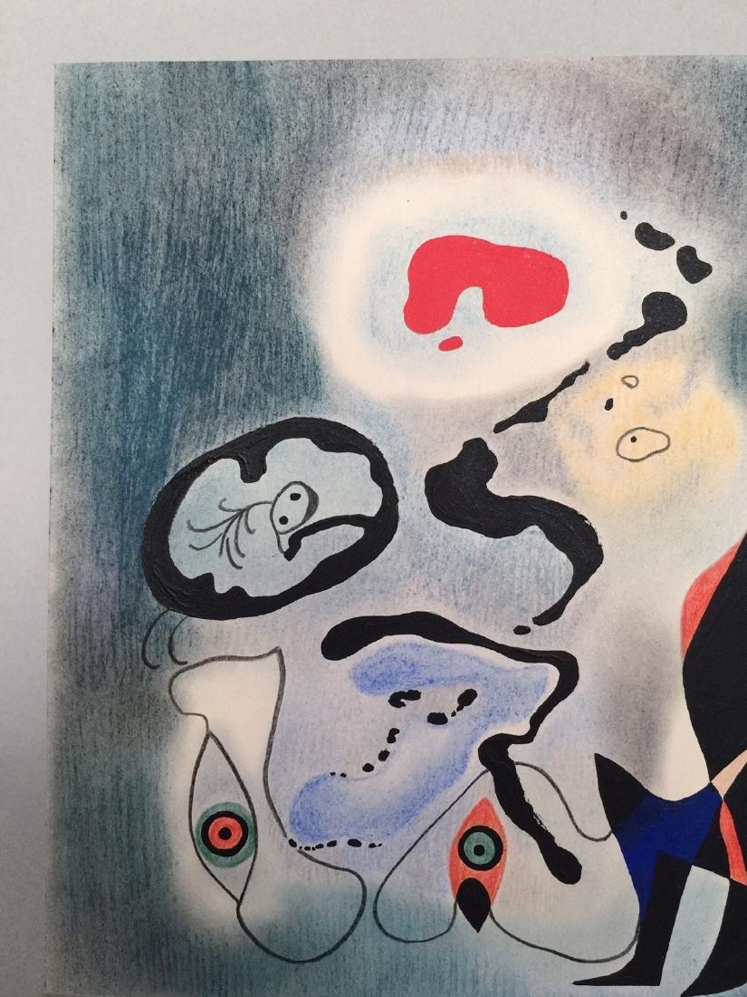 Joan Miro mixed media on paper - 3