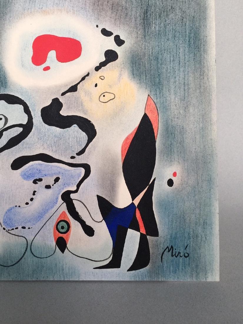 Joan Miro mixed media on paper - 4