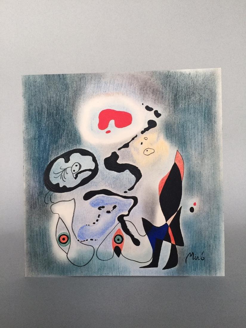 Joan Miro mixed media on paper - 5
