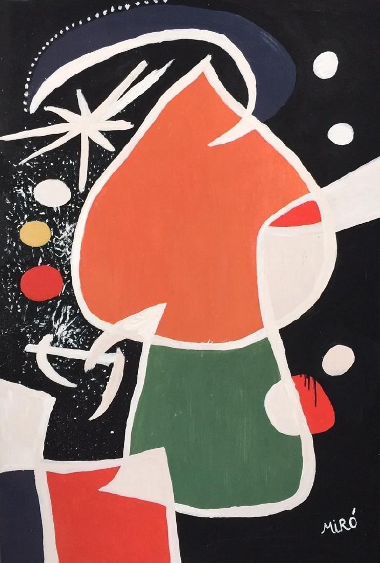 Joan Miro tempera on paper